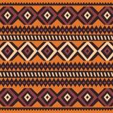 与几何元素的部族种族五颜六色的漂泊样式,非洲泥布料,部族设计 向量例证