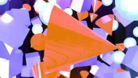 与几何原始的抽象CGI行动图表 影视素材