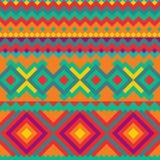 与几何图的种族墨西哥装饰品 库存例证