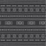 与几何图的非洲无缝的样式 皇族释放例证