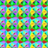 与几何形状和星的美好的抽象纹理 库存图片