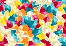 与几何形状的五颜六色的背景 库存例证