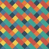 与几何形状的传染媒介样式,菱形 与之字形主题的无缝的背景 多色例证 五颜六色 向量例证