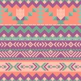 与几何形状的墨西哥无缝的样式 库存例证