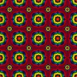 与几何形状的抽象无缝的样式 图库摄影