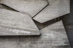 与几何形状的抽象空的具体内部 免版税库存图片
