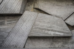 与几何形状的抽象空的具体内部 免版税库存照片