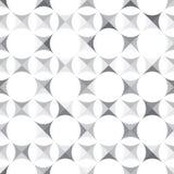 与几何形状的无缝的单色样式 向量例证