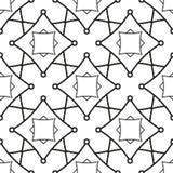 与几何形状的无缝的模式 库存照片