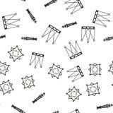 与几何形状的无缝的模式 免版税库存图片