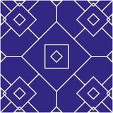 与几何形状的无缝的模式 图库摄影