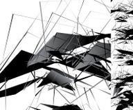 与几何形状的锋利单色例证 抽象geo 库存照片