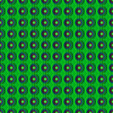 与几何样式的无缝的抽象纹理以花的形式 库存照片