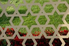 与几何样式的无背长椅土耳其艺术 库存图片