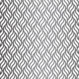 与几何波浪的传染媒介样式 不尽的时髦的纹理 波纹黑白照片背景 免版税图库摄影