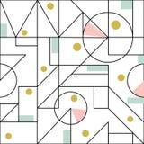 与几何现代稀薄的形状的无缝的样式 皇族释放例证