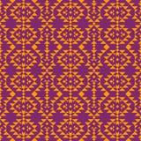 与几何装饰品的单色种族样式 库存例证