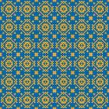 与几何装饰品的单色种族样式 向量例证