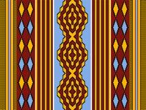 与几何装饰品的种族非洲无缝的样式 库存例证