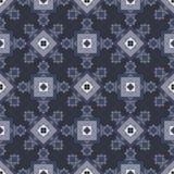 与几何雪花的无缝的冬天样式 免版税库存图片