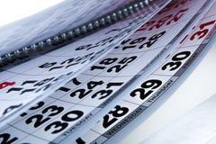 与几天的数量的挂历 免版税图库摄影