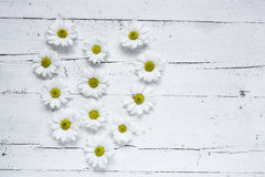 与几朵五颜六色的花的花卉样式 免版税库存图片