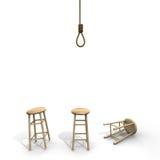 与凳子的自杀结 免版税库存照片