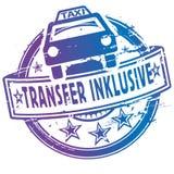 与出租汽车的包含不加考虑表赞同的人和的梭 向量例证