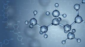 与分子的背景 图库摄影