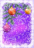 与分支和球的圣诞节背景 库存图片
