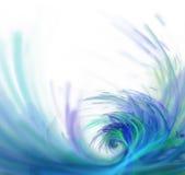 与分数维纹理的白色抽象背景 紫色大波浪 免版税库存图片