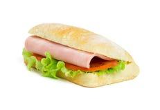 与切片的一个三明治火腿 库存图片