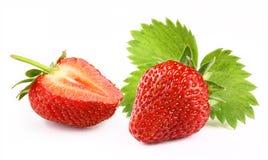 与切片的草莓 图库摄影