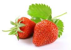与切片的草莓 免版税库存照片