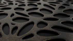 与利用仿生学的形状表面的抽象黑背景 库存照片