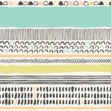 与刷子冲程的时髦seampless样式 库存照片