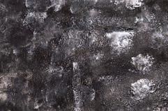 与刷子冲程的黑白水彩纹理 免版税库存图片