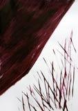 与刷子被画的相交的线的大对象 免版税库存图片