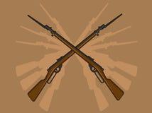 与刺刀的第二次世界大战步枪 免版税图库摄影
