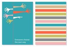 与刺激词组的传染媒介创造性的卡片 向量例证