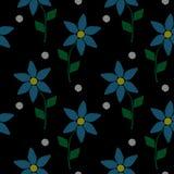 与刺绣的无缝的样式缝仿制简单的littl 向量例证