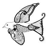 与刺绣装饰的燕子 库存图片