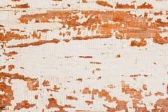 与削皮油漆白色颜色的老木棕色织地不很细背景 您的文本的地方 免版税库存照片