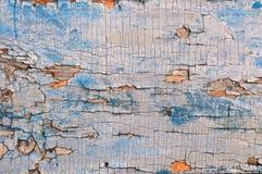 与削皮油漆的葡萄酒木背景 老木板条纹理背景 蓝色被绘的木头 库存照片