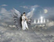 与剑的天使 库存照片