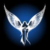 与剑的天使 向量例证