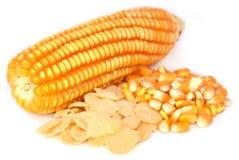 与剥落的玉米 库存图片