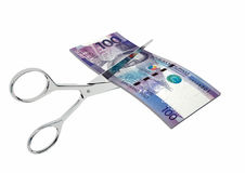 与剪刀的3D菲律宾货币 皇族释放例证