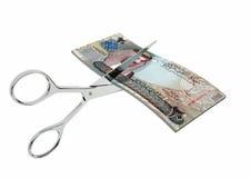 与剪刀的3D巴林货币 皇族释放例证