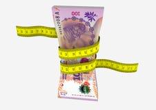 与剪刀的3D Argentena货币 向量例证